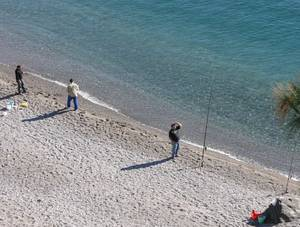 Andalusien: Angler bei Almunecar